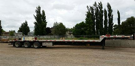 53 ft aluminum step deck trailer