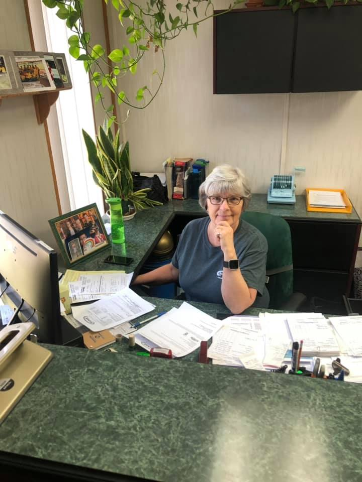 One of our amazing employees Sue hard at work for Gilmar Crane Service Ltd.