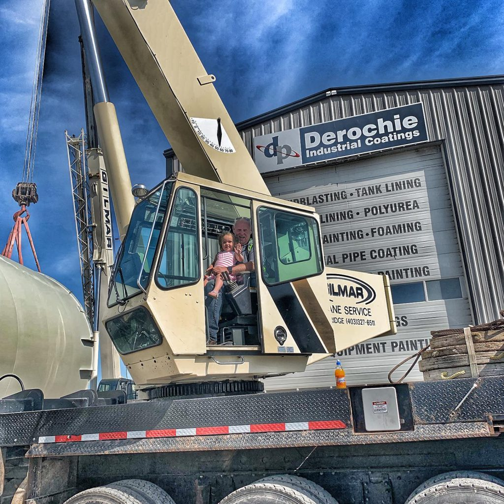 Gilmar Crane Service had a little visitor running one of our cranes.