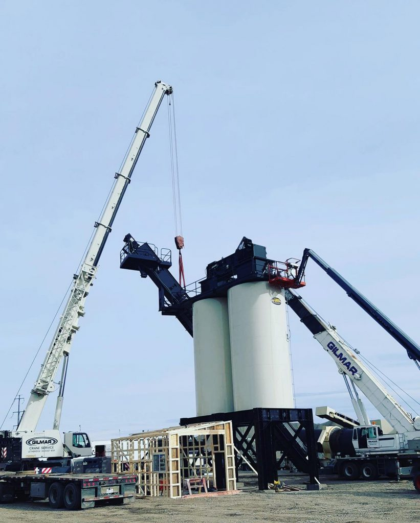 Crane work with Tollestrup construction ltd.