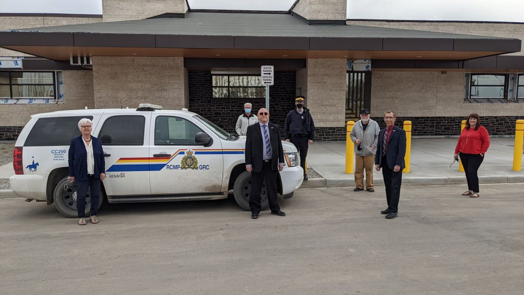 The new and improved Coaldale RCMP Station that Gilmar Crane helped build.